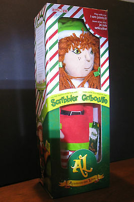 """New Girl Scribbler Plush jointed elf doll by Amuze 14""""  inch red orange  hair"""