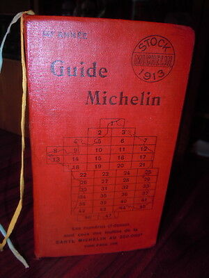 TRES Beau guide rouge  Michelin 1913