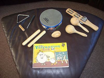 Six Piece Percussion Set with Percussion Book and CD