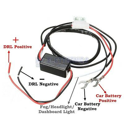 12V Car LED Running Light Relay Harness DRL Controller On/Off Switch