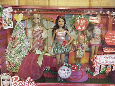 A Perfect Christmas Barbie Dolls-Set of 4-2011