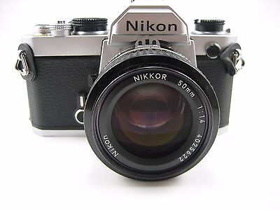 Nikon FM Camera with Nikkor 50mm f/1.4 AI Lens - EXCellent Condition!