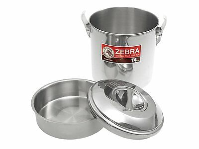 Zebra Stainless Steel Billy Can Camping Cooking Pot 10cm, 12cm & 16cm