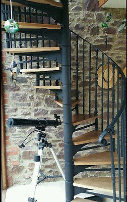 Spiral Staircase Cast Steel With Wooden Treads 1200 Cms Diameter