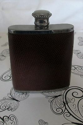 Hip Flask 2.5 0z Leather & Stainless Steel ( Equestrian)