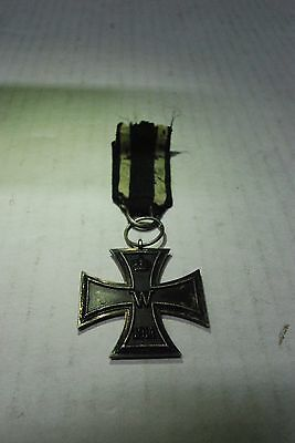 Authentic WWI German Iron Cross Medallion Ribbon 1813 & 1914