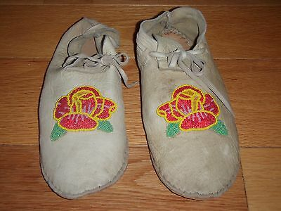 Original Hand-Made Deer Skin Beeded Moccasins from Colorado Utes