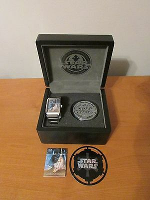 Vintage FOSSIL Star Wars 25th Anniversary Watch & Paperweight Limited Edition