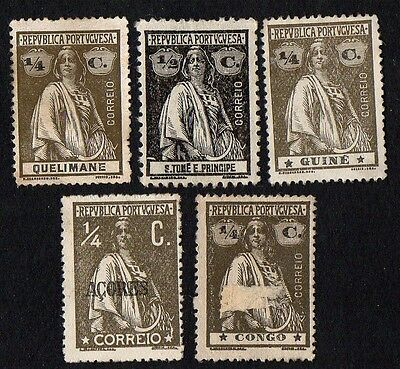 Portugal stamps. Portugal Colonies. Ceres. Cancelled