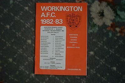 Programme Workington v Mossley 1982