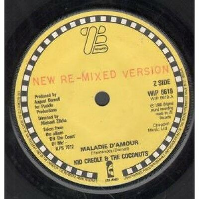 """KID CREOLE AND THE COCONUTS Maladie D'amour 7"""" VINYL One Sided Promo New"""