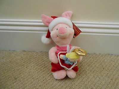 Disney Store Exclusive Christmas Piglet Beanie Soft Toy Winnie The Pooh