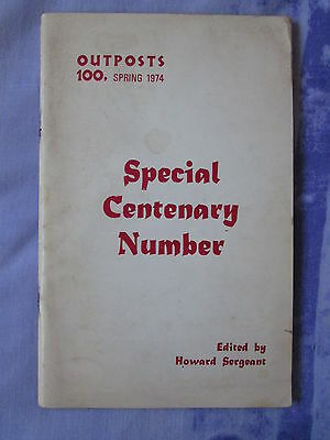 1974 Outposts 100 Howard Sergeant Ted Hughes Dylan Thomas Alan Sillitoe Amis etc