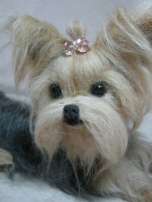 ~*OOAK Needle felted Yorkshire Terrier/Yorkie Puppy/Dog*~