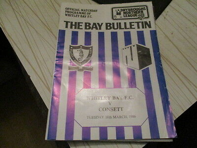 Whitley  Bay  V  Consett  1985-6