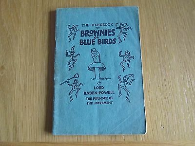 The Handbook for Brownies or Blue Birds - Lord Baden-Powell 1941 64 page booklet