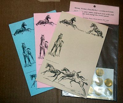 FOAL TIME Folded Notes with Seals - Sam Savitt -NIP