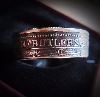 Coin ring Butlers Rangers First Settlers Canada  size 15
