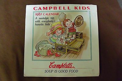 "Campbell Kids 1987 Calendar "" A nostalgic trip with everybody's favorite kids"""