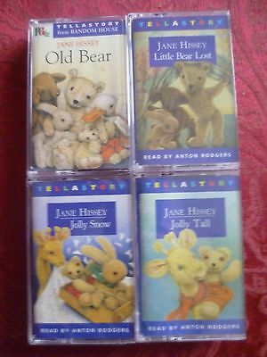 Old Bear and Friends Childrens Audio Books / Tapes /  Cassettes x4 Jane Hissey