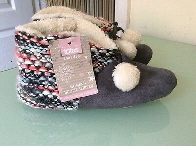 Women's TOTES Toasties Bootie Slippers  Small UK 3 - 4 BRAND NEW