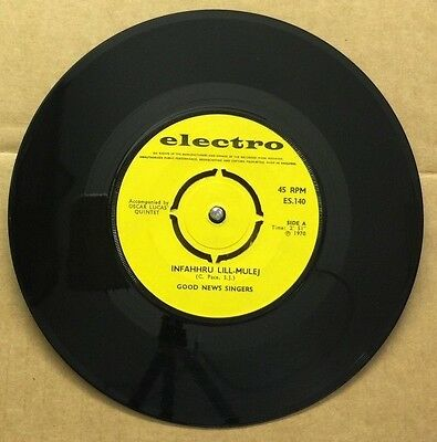 """GOOD NEWS SINGERS-Infahhru Lill Mule-7"""" EP 45rpm Record-Electro-ES.140-1970"""