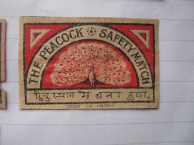 Old Indian Bird Matchbox Label.design 3.