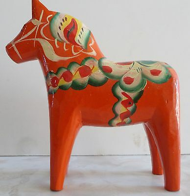 Vintage Swedish Red Dala Horse 6 inch from Sweden
