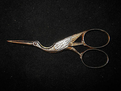Figural Stork Sewing Scissors Made in Germany/ Marked