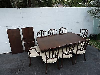 Set of Mahogany Dining Table with Two leaves and 8 Chairs 8033X
