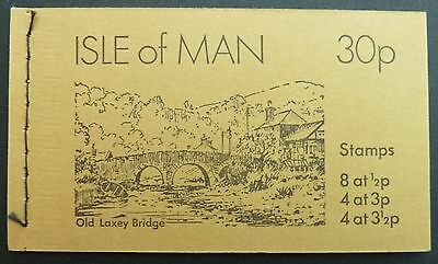 """ISLE MAN MH MARKENHEFTCHEN OLD BOOKLET """"OLD LAXEY BRIDGE"""" FROM 1974 d1129"""