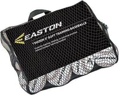"""Easton Case with Quantity of 24 Soft Training Balls, Neon, 11"""""""