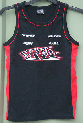 Official HOLDEN Merchandise RACING TEAM T-Shirt Cotton Black Red Singlet Top