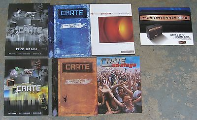 "Five ""Crate"" Amplifer Catalogs from 1999-2002"