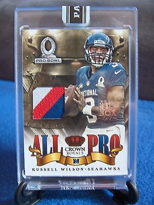 Seattle Seahawks / Russell Wilson Patch / 1 of 1 / Panini / Pro Bowl