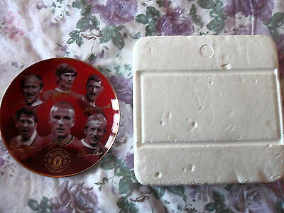"Manchester United, Fine Porcelain Plate, Danbury Mint ""100 Glorious Years"""