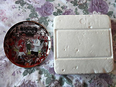 "Manchester United, Fine Porcelain Plate, Danbury Mint ""100 Years At The Top"""