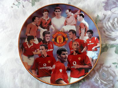 "Manchester United, Fine Porcelain Plate, Danbury Mint ""great Defenders"""