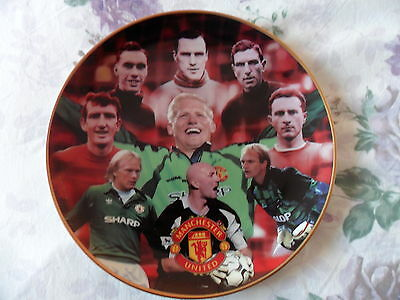 "Manchester United, Fine Porcelain Plate, Danbury Mint ""great Goalkeepers"""
