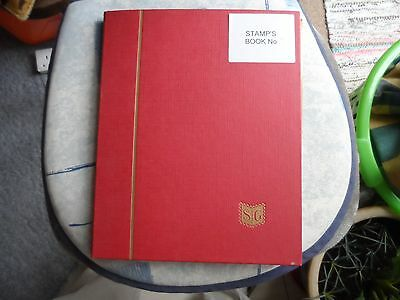 100's of australia stamps and stock book