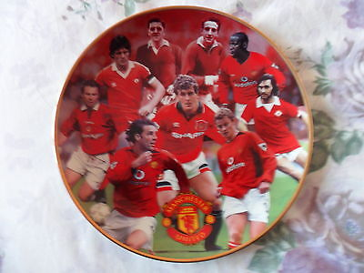 "Manchester United, Fine Porcelain Plate, Danbury Mint ""great Strikers"""