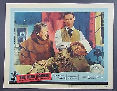Vintage 1958 THE LONE RANGER AND THE LOST CITY OF GOLD Lobby Card #7 14x11 RARE