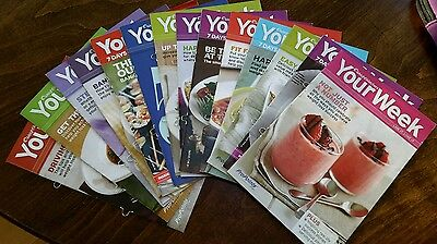 Weight watchers - bundle of 14 'your week' booklets and a magazine