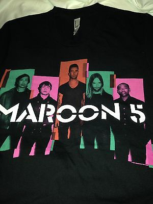 Small Maroon 5 Concert Tour T Shirt 2013 New NWOT Black Band Music