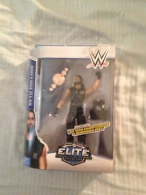 Wwe Elite 33 Seth Rollins Autographed WRESTLING FIGURE MATTEL CHEAPEST CHRISTMAS
