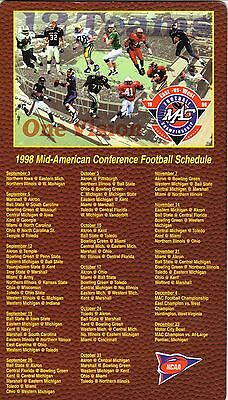 1998 Mid-American Conference Football Magnet Schedule