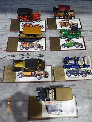 7 Vintage matchbox cars and cards