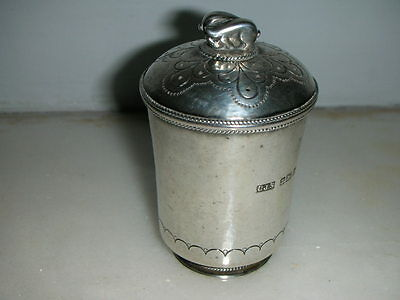 Antique Solid Silver Neo-Classical Pepper Cellar By C.j.s-Birmingham-1929