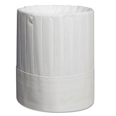 """Royal Pleated Chef's Hats, Paper, White, Adjustable, 9"""" Tall"""