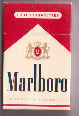 Empty Packet 20 Marlboro Netherlands Low to Middle Tar